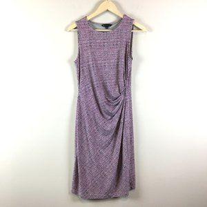 Brooks Brothers Twist Front Printed Sheath Dress S
